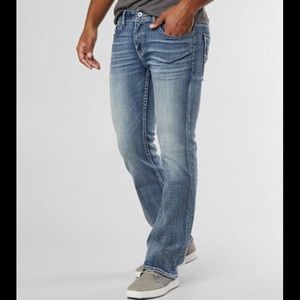 BKE Aiden distressed bootleg jeans 30L
